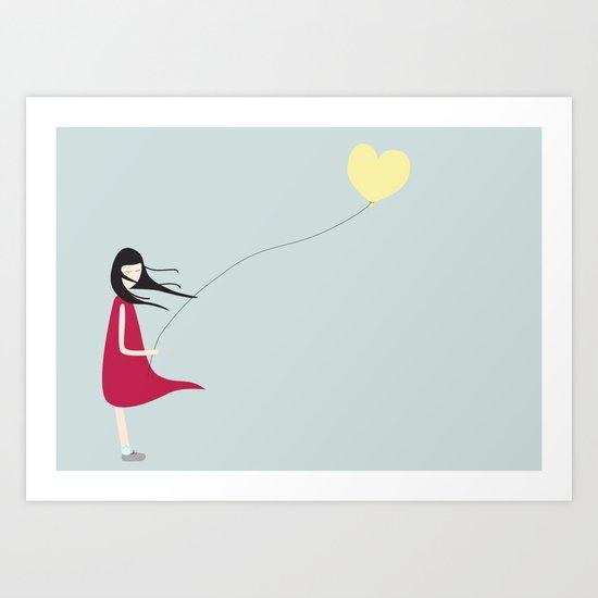Floating Heart Art Print