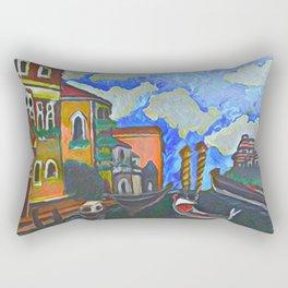 Venice, a Painting Rectangular Pillow