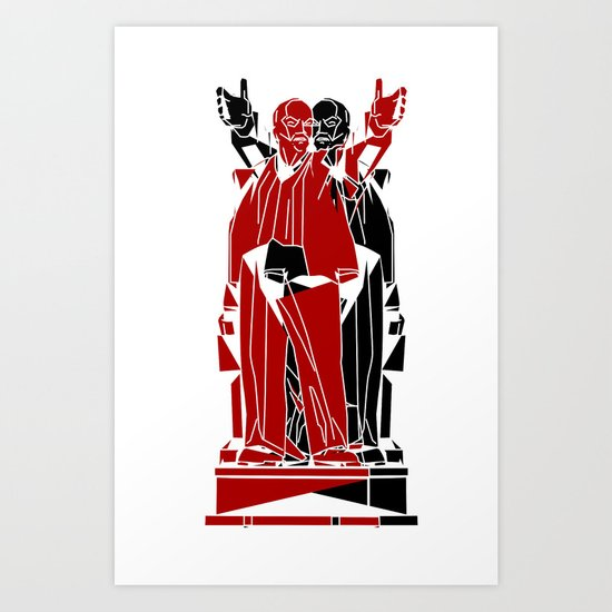 Soyuz 2013 Symposium Two Lenins Art Print