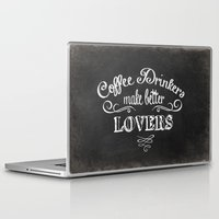 coffee Laptop & iPad Skins featuring COFFEE by Monika Strigel®