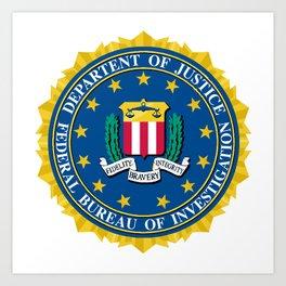 FBI Seal Art Print