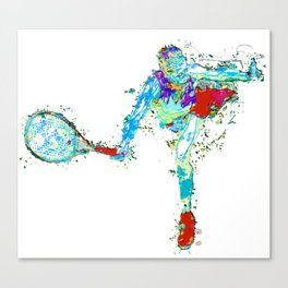 Tennisplayer female Canvas Print