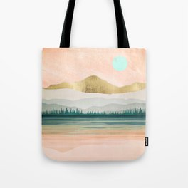 Spring Forest Lake Tote Bag