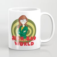 daria Mugs featuring Daria by Manu Cafferini