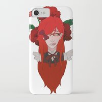 kuroshitsuji iPhone & iPod Cases featuring Grell Sutcliff // Pansy by Nadidrawings