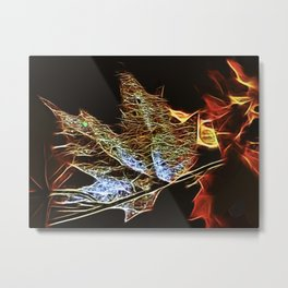 Fall Leaf Abtract Metal Print