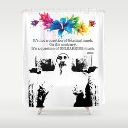 """Unlearn Everything"" Shower Curtain"