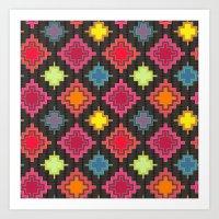kilim Art Prints featuring kilim bold by Sharon Turner