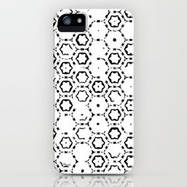Flowers - abstract pattern faded monochromatic iPhone Case