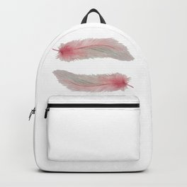 Soft Pink Feather Kisses Backpack