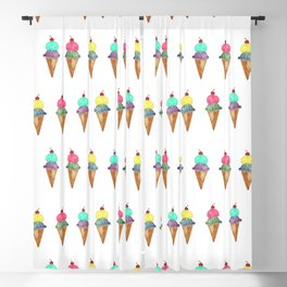 Ice Cream Watercolor & Ink Blackout Curtain