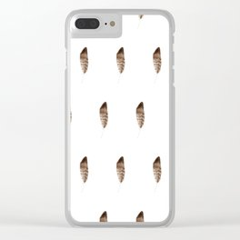 Feather pattern #s5 Clear iPhone Case