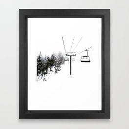 Into the White Framed Art Print
