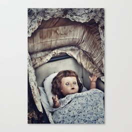 Haunted she is Canvas Print