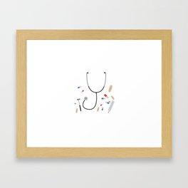 doctors equipment Framed Art Print