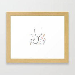 doctors equipment Framed Art Print