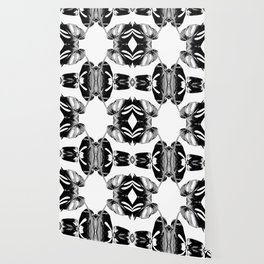 Black monstera leaves watercolor Wallpaper
