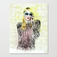 2ne1 Canvas Prints featuring 2NE1 - CL (BAZAAR) by Margot Park