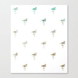 Flamingo Spring Pattern Canvas Print