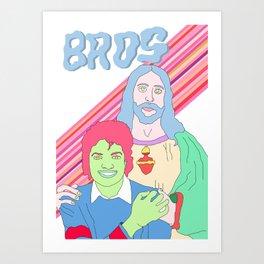 Bros in Heaven Art Print