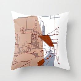 seattle night light Throw Pillow