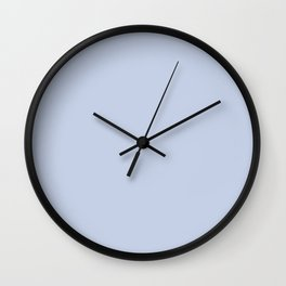 From Crayon Box – Periwinkle Blue - Pastel Blue Solid Color Wall Clock