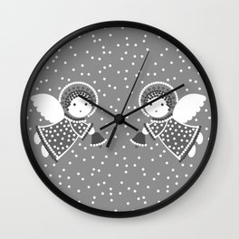 Angels on the gray Wall Clock