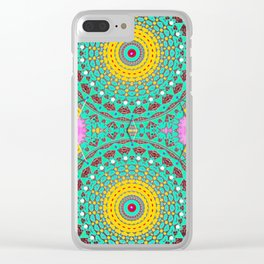 Chicks and Hens Mandala Clear iPhone Case