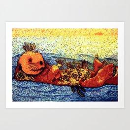 Terrarium Otter Art Print
