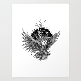 Owl of the Midnite Story Art Print