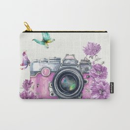 Camera with Summer Flowers 2 Carry-All Pouch