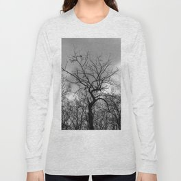 Witchy black and white tree Long Sleeve T-shirt