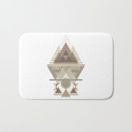 Triangular Abyssal, brown edition Bath Mat