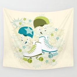 Roller Derby Rumble Wall Tapestry