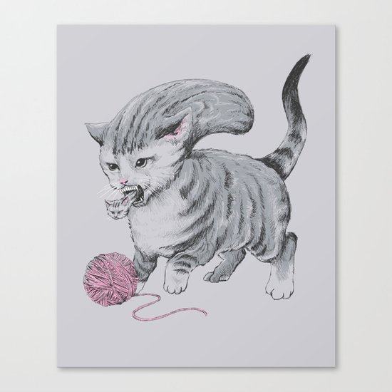 Kittehmorph Canvas Print