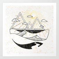 Triangle Dunes Inktober :: Destiny Laced Beneath The Deserts Art Print