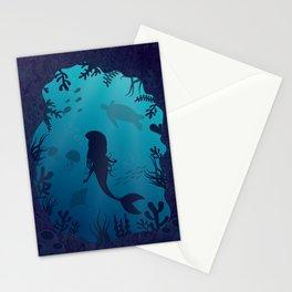 Mermaid Underwater Cave Stationery Cards