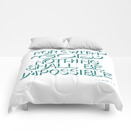 For with God - Bible Verse Comforters