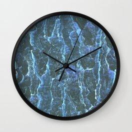 Mars ice texture Wall Clock