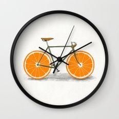Zest (Orange Wheels) Wall Clock