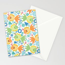 Tropical Fruit Fish! Stationery Cards