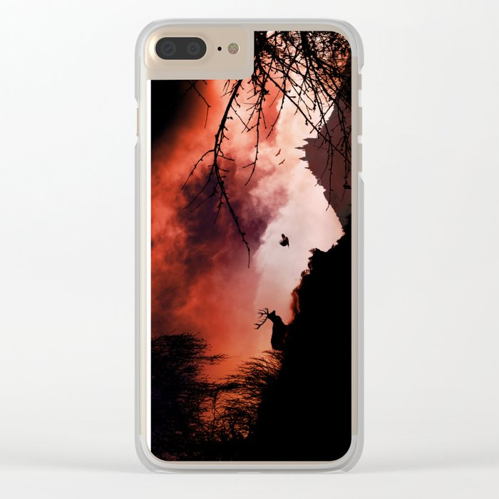 Dramatic cloudy scenery Clear iPhone Case