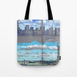 Arrivée à New-York Tote Bag