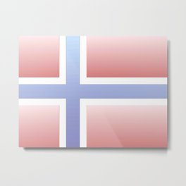 flag of norway  -with color gradient Metal Print