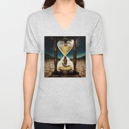 Sands of Time ... Memento Mori Unisex V-Neck