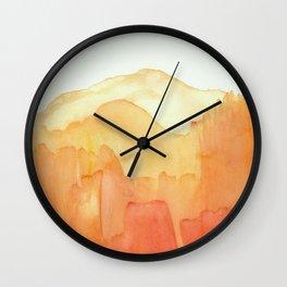 Orange Distance Wall Clock