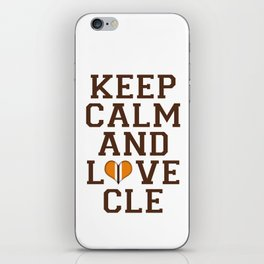 LOVE CLE BROWNS II iPhone Skin