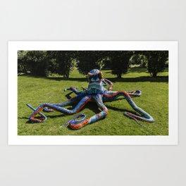 Mosaic Octopus  Art Print
