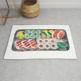 Sushi Collection – Black Platter Rug