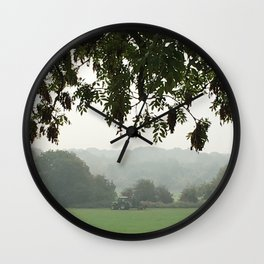 Cutting The Grass Wall Clock
